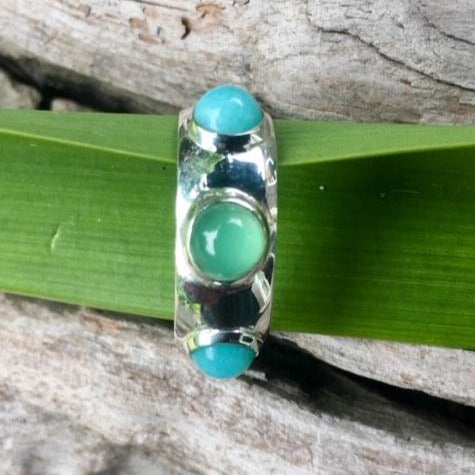Crysoprase and Amazonite Ring, Rowena Watson Designs