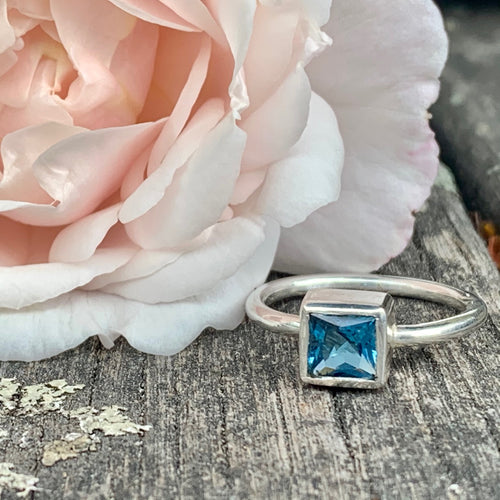 Sterling Silver and Swiss Blue Topaz Ring, Rowena Watson Designs