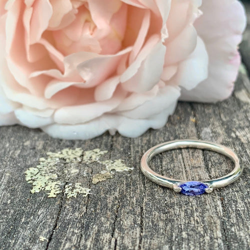Tanzanite and Sterling Silver Ring, Rowena Watson Designs