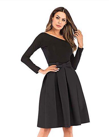 High Waisted A line Pleated Midi Skirt
