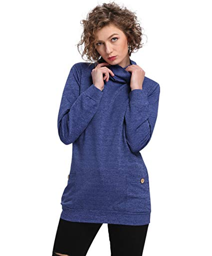 Cowl Neck Tunic Sweatshirts