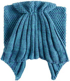 Ruffle Knitted Mermaid Tail Blanket for Baby