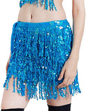 Sequin Fringe Mini Skirt