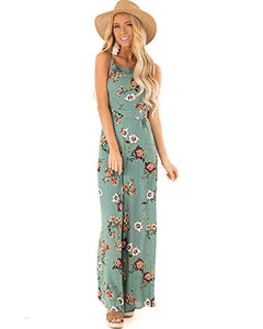 Floral Tie Back Spaghetti Strap Wide Leg Jumpsuit