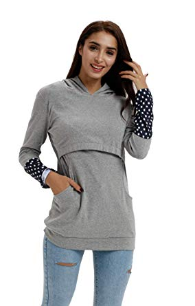 Nursing Breastfeeding Hoodie With Pockets