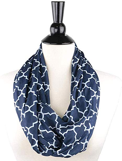 Infinity Scarf with Hidden Zipper Pocket
