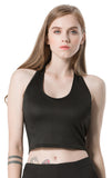 Halter Crop Tank Tops