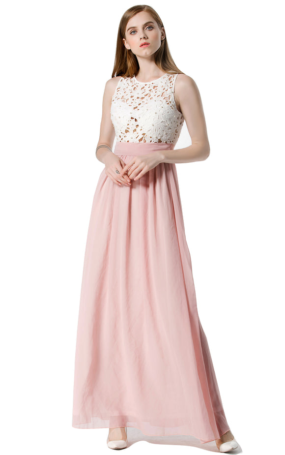 Moxeay Formal Bridesmaid Cocktail Lace Dress