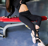 Cutout Tie Yoga Workout Leggings