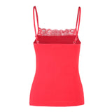 Adjustable Lace Trim Cami Tank Tops