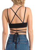 Back Cross Bandage Cami Crop Top