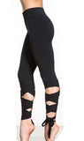 Cutout Tie Fitness Yoga Leggings