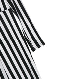 Plunge Neck Striped Jumpsuit