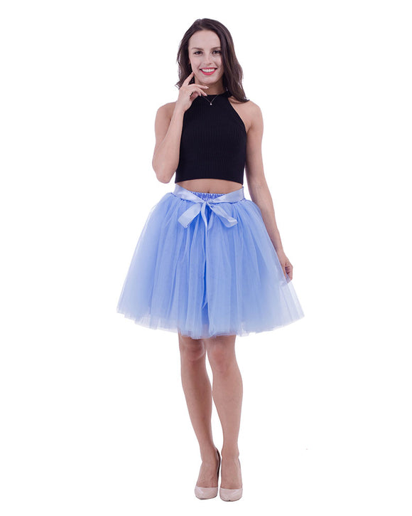 High Waist Tulle Bridesmaid Skirt With Belt