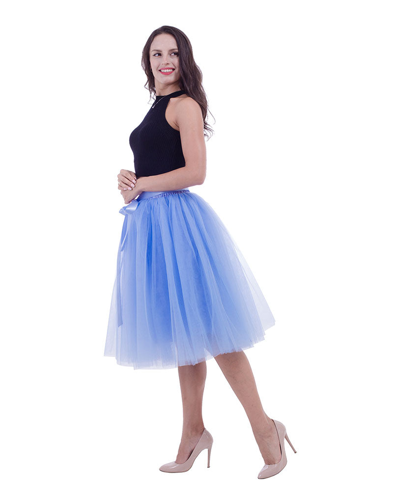 c244915b61 Knee Length Tulle Skirt Tutu Skirt Evening Party Gown Prom Formal Skirts ...