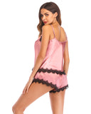 Lace Silky Cami Satin Sleepwear Set