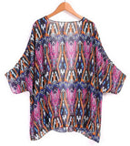 Cardigan Chiffon Printed Cover Up