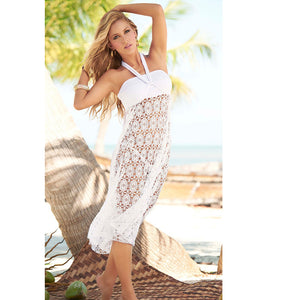 Hollow Out Lace Crochet Cover Up