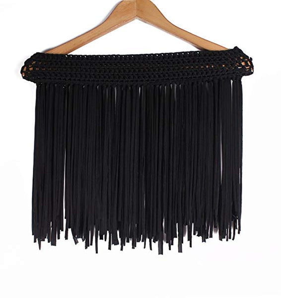 Crochet Fringe Beach Cover up Mini Skirt