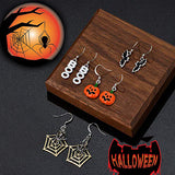 4 Pairs of Halloween Drop Earrings