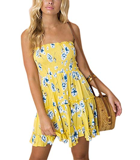 Swing Floral Strapless Mini Dress