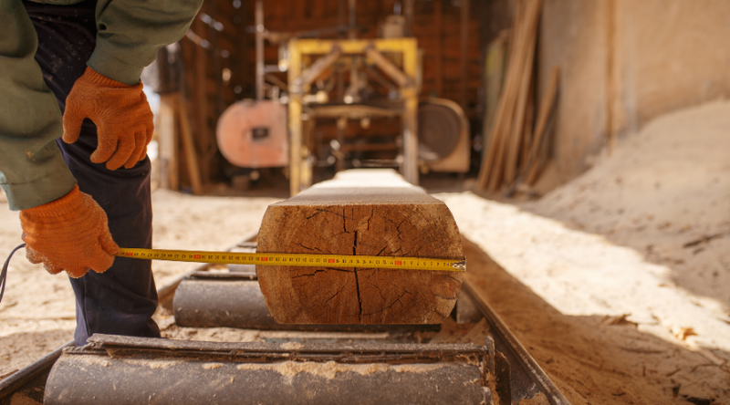 Do not allow your log sawing process to stop!