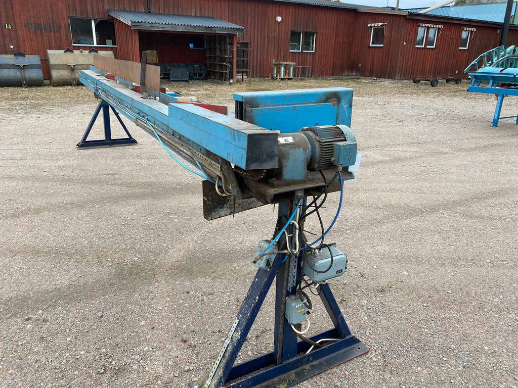 Used roller conveyor with side pushers - Swedabo