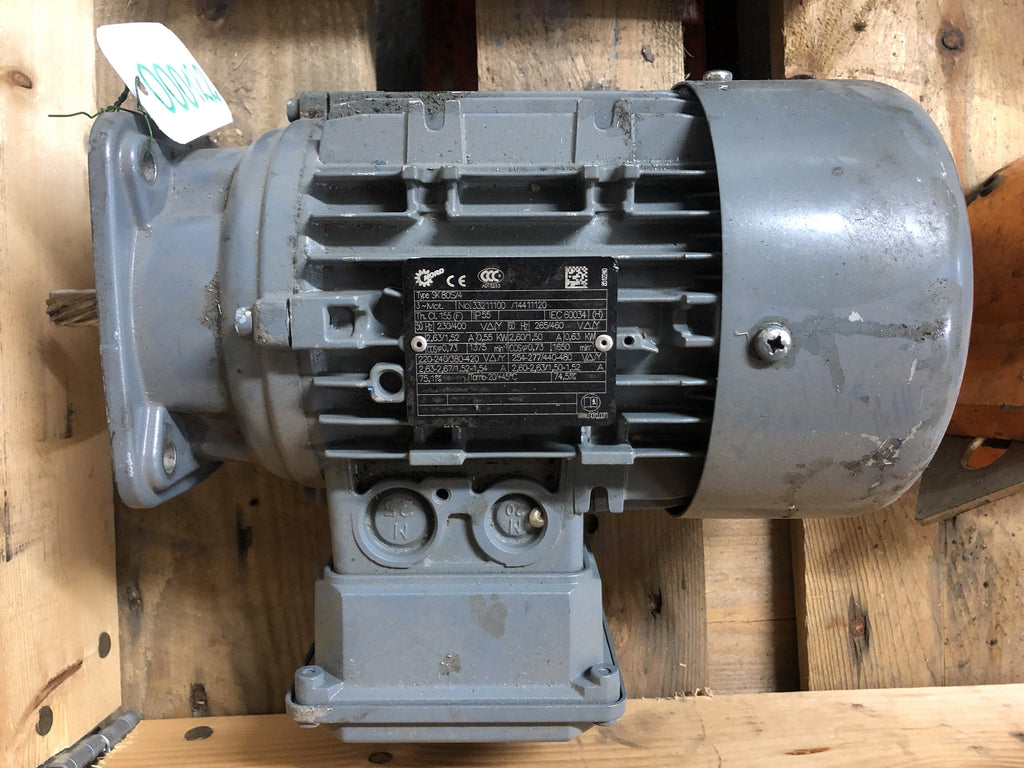 Used Electric motor 0,55 kW, 1650 rpm. - Swedabo