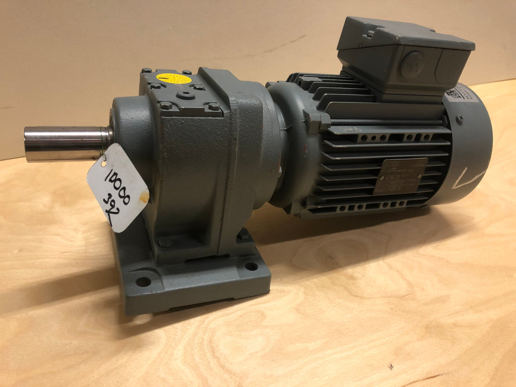 New Electric motor with reducer 0,75 kW 1400 rpm - Swedabo