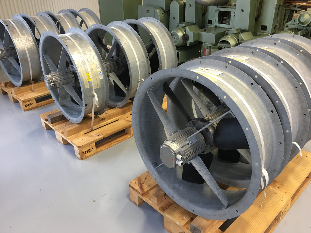 New industrial fans Flakt Woods - Swedabo