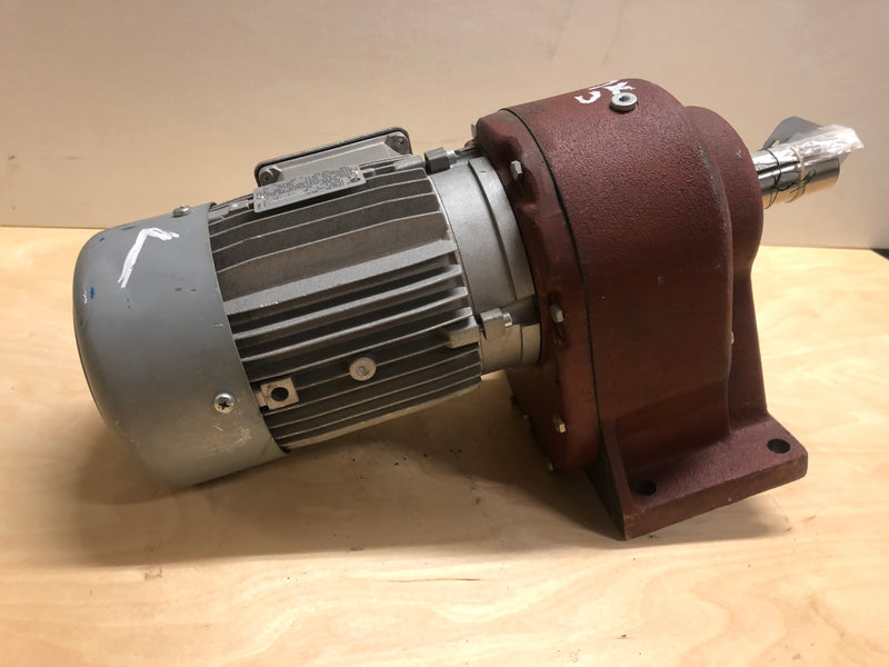 Electric motor with reducer