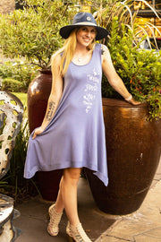 2-IN-1 • Worship, Pray, Love (Psalm 100) - Dusty Blue Color Swimsuit Cover-Up or Casual Dress Dress/Top SONflower Gal CF® Small/Medium Dusty Blue