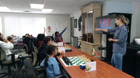 Agnieszka Matras-Clement. Calgary Girls Chess Camp