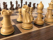 Load image into Gallery viewer, Jumping Knight Chess Store. Executive chess set with chess board.