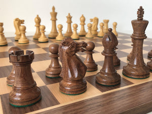 Jumping Knight Chess Store. Executive chess set with chess board.
