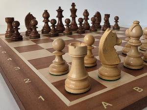 Jumping Knight Chess Store. Timeless chess set with chess board.