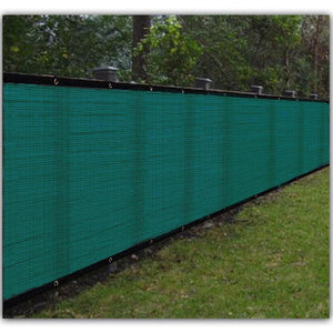 BalajeesUSA 6'x50' Green shade net backyard privacy fence wind screen construction sports court fabric mesh fence 54453