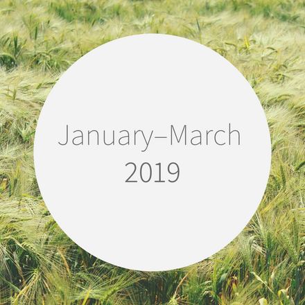 2019 ① January-March 第一四半期