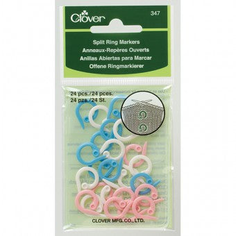 Clover Split Ring Markers - Knitting 347