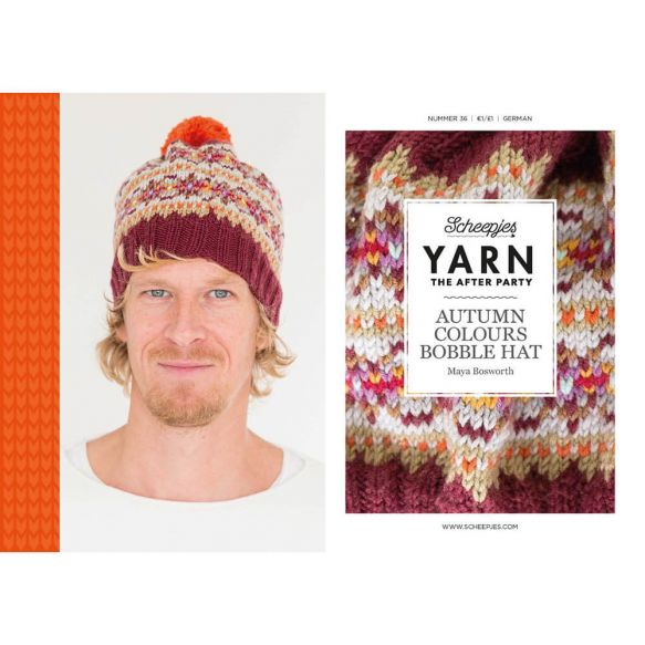 Scheepjes Pattern: YARN The After Party no. 36 Autumn Colours Bobble Hat by Maya Bosworth
