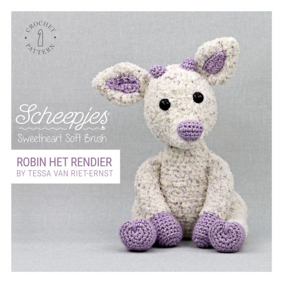 Scheepjes Sweetheart Soft Brush - Robin The Reindeer by Tessa Van Riet-Ernst