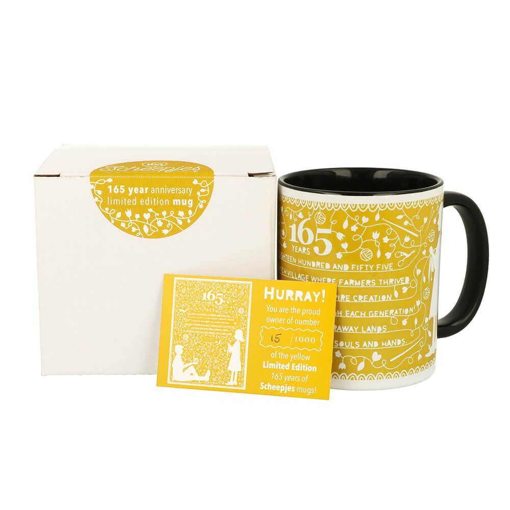 AVAILBLE NOW - Scheepjes Limited Edition Mug - 165 Years Yellow