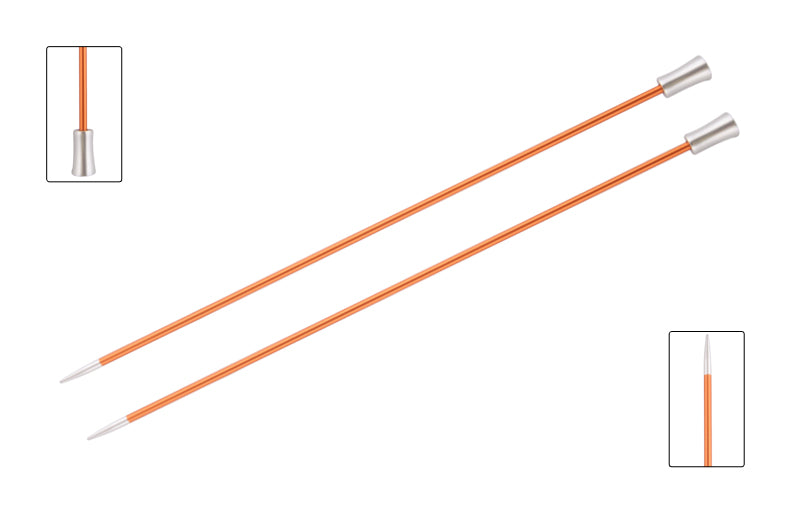 Knit Pro Zing Single Pointed Needles - 40cm