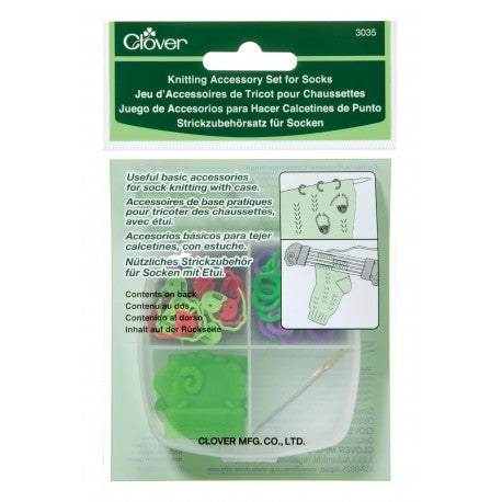 Clover Knitting Accessory Kit for Socks