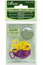 Clover Knitting Stitch Markers Triangle Shape - Medium 3150