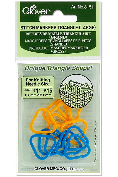 Clover Knitting Stitch Markers Triangle Shape - Large (3151)