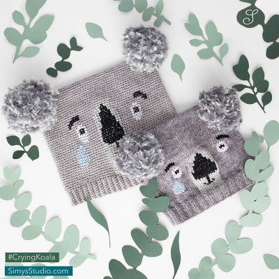 Scheepjes Pattern Kit - Crying Koala Hat by Simy Available Now