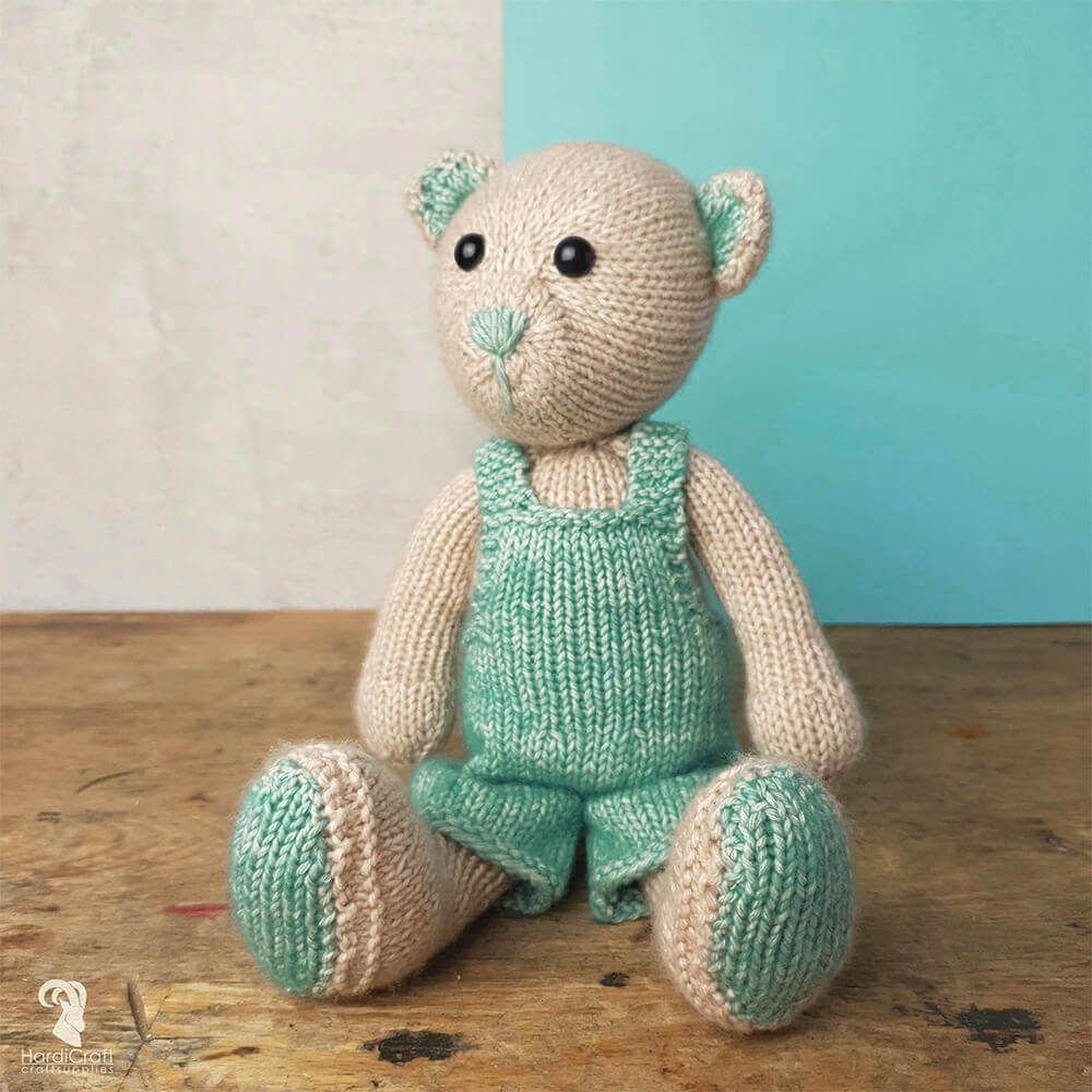 HardiCraft Knitting Amigurumi Kit - John Bear