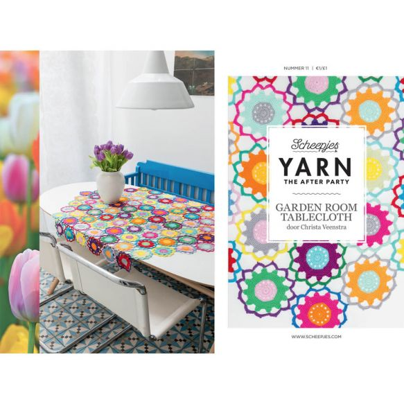 Scheepjes Pattern: YARN The After Party no. 11 Garden Room Tablecloth by Christa Veenstra