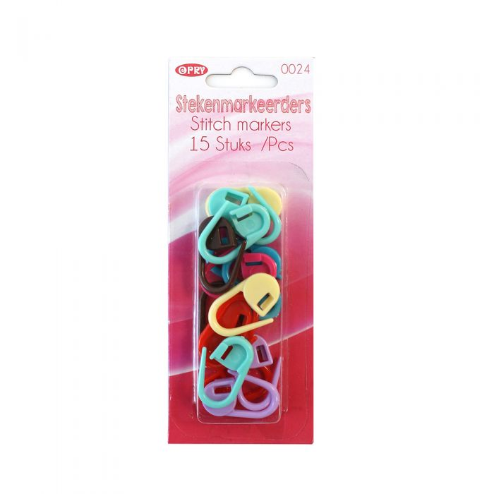 Opry Stitch Markers - Mulitcoloured Packs of 15